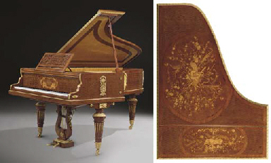 a fine louis xvi style ormolu mounted amboyna mahogany. Black Bedroom Furniture Sets. Home Design Ideas