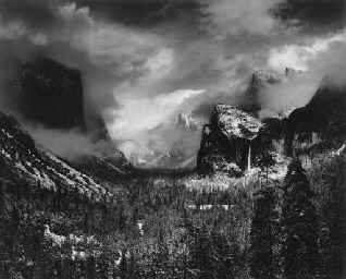 ANSEL ADAMS (1902-1984) , Clearing Winter Storm, Yosemite ...Ansel Adams Clearing Winter Storm