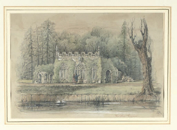 english school 19th century adelaide lodge the fishing temple virginia water the mount. Black Bedroom Furniture Sets. Home Design Ideas