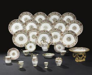 Partie composite de service de table royal en porcelaine for Art de la table de luxe