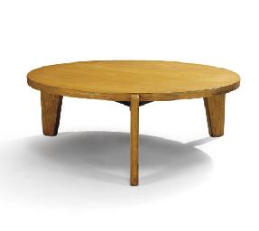 jean prouve 1901 1984 table basse circulaire vers 1944 christie 39 s. Black Bedroom Furniture Sets. Home Design Ideas