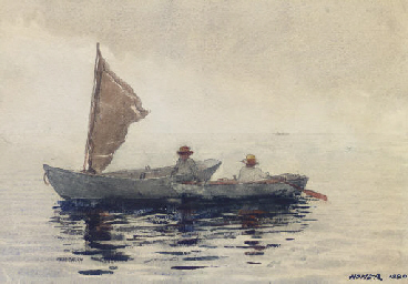 essay on winslow homer (downes, 2006) in this painting after the hurricane, 1899, winslow homer tries to convey the idea in his painting (after the hurricane, 1899) that a man is l.