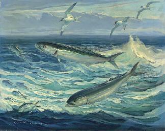 William Goadby Lawrence American 1914 2002 Bluefish