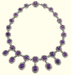 AN ANTIQUE AMETHYST AND DIAMOND NECKLACE | Christie's