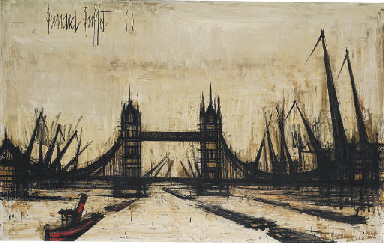 Superb Bernard Buffet 1928 1999 Tower Bridge 20Th Century Download Free Architecture Designs Scobabritishbridgeorg