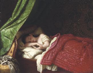 johann georg meyer von bremen german 1813 1886 sleeping beauty christie 39 s. Black Bedroom Furniture Sets. Home Design Ideas