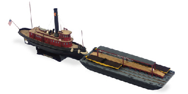 A Scale Model Of The Pennsylvania Railroad Tugboat