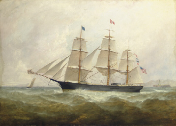 What Is The Sales Tax In New York >> William Howard Yorke (British, 1847-1921) , The American clipper ship Susan Howland passing a ...