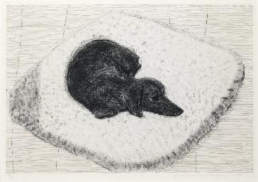 David Hockney Dog Etching No 10 From Dog Wall Christie S