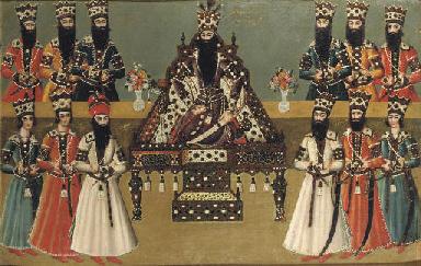 Fath Ali Shah And His Immediate Courtiers Qajar Iran Circa 1815 Christie S