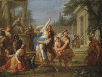 Placido Costanzi Rome 1702 1759 The Rape Of The Sabine