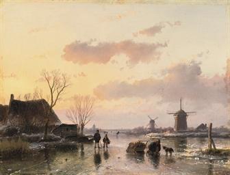 Oil Paintings Of Dutch Windmills In Winter