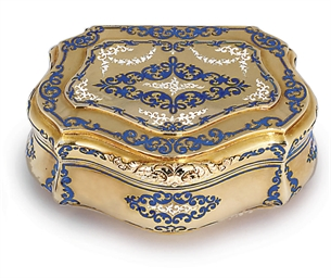 a german parcel enamelled gold snuff box by carl martin weishaupt s hne fl from 1837. Black Bedroom Furniture Sets. Home Design Ideas
