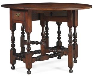 A william and mary walnut gate leg table philadelphia for Furniture r us philadelphia