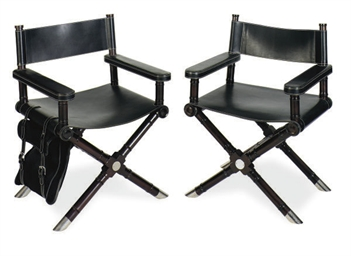 A PAIR OF METAL MOUNTED MAHOGANY AND LEATHER U0027DIRECTORu0027Su0027 CHAIRS, | BY  RALPH LAUREN | Furniture U0026 Lighting, Chair | Christieu0027s