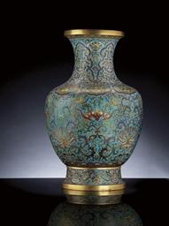 A Fine Large Cloisonne Enamel Baluster Vase Christie S