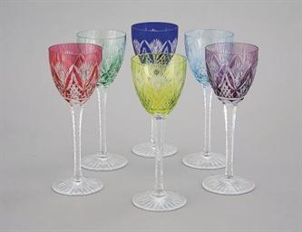 six verres a vin d 39 alsace en cristal christie 39 s. Black Bedroom Furniture Sets. Home Design Ideas