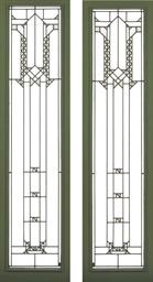 Frank Lloyd Wright 1867 1959 Two Leaded Glass Windows