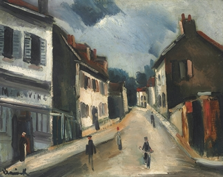 maurice de vlaminck 1876 1958 une rue a port marly lot 257 sale 2217 picture to pin on