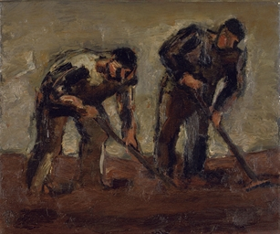 Josef Herman R A 1911 2000 Weeding The Field