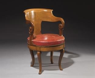 Fauteuil de bureau d 39 epoque louis philippe vers 1840 - Fauteuil de bureau louis philippe ...