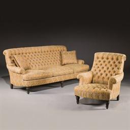 Mobilier de salon comprenant un canape et deux fauteuils for Canape et deux fauteuils