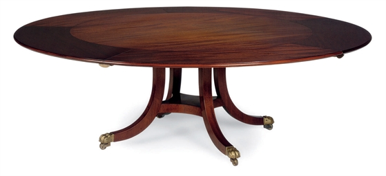 A MAHOGANY CIRCULAR DINING TABLE | BY WILLIAM TILLMAN, 20TH CENTURY |  Dining Table, Furniture U0026 Lighting | Christieu0027s