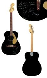 johnny cash fender electric instrument company a guitar malibu fullerton ca circa 1965. Black Bedroom Furniture Sets. Home Design Ideas