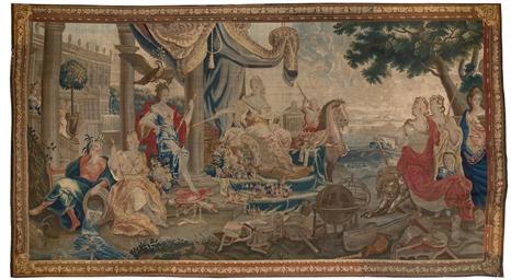 Tapisserie allegorique flamande de la fin du xviieme siecle debut du xviiieme siecle d 39 apres - Peut on tapisser sur de la tapisserie ...
