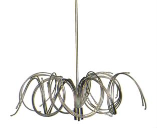 A chromed metal 39 medusa 39 form halogen light fixture for Medusa light fixture