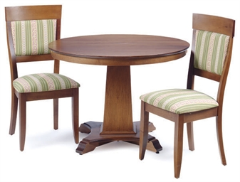 A Mahogany Pedestal Extending Dining Table With Four Chairs By Walter Of Wabash Second Half