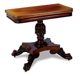An american classical mahogany card table new york or for Furniture r us philadelphia