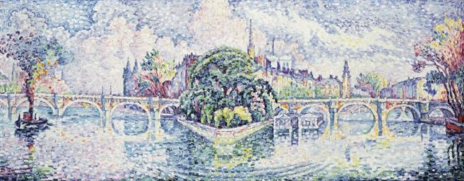 Paul signac 1863 1935 le jardin du vert galant for Le jardin du pic vert