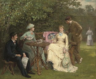 English School 19th Century The Tea Party Christie S