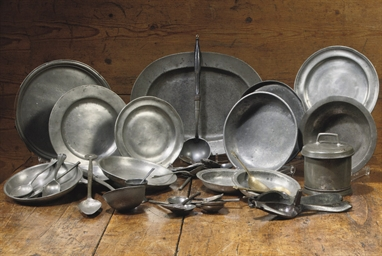 A Large Collection Of Various North European Pewter