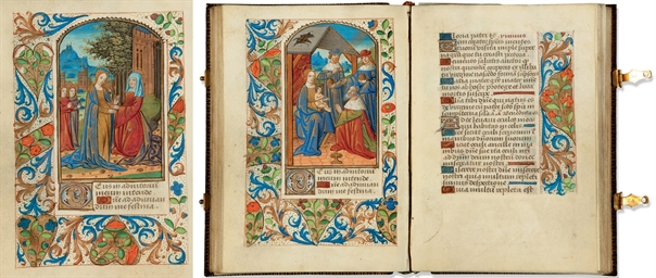 livre d 39 heures l 39 usage de rouen en latin manuscrit enlumin sur v lin rouen vers 1480. Black Bedroom Furniture Sets. Home Design Ideas