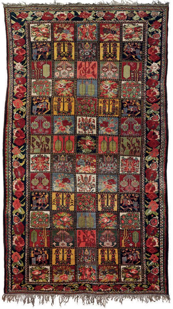 A bakhtiari garden design carpet west persia circa 1900 for Garden design 1900