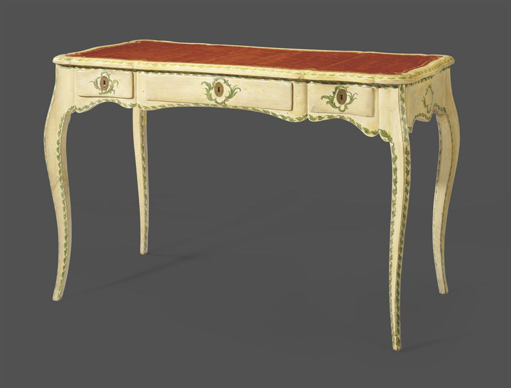 a north italian cream and green painted bureau plat genoa mid 18th century christie 39 s. Black Bedroom Furniture Sets. Home Design Ideas