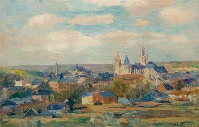 Albert Lebourg 1849 1928 Vue De Village Christie S