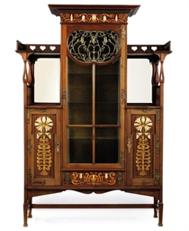 kitchen glass cabinets a shapland amp petter nouveau inlaid mahogany display 1766