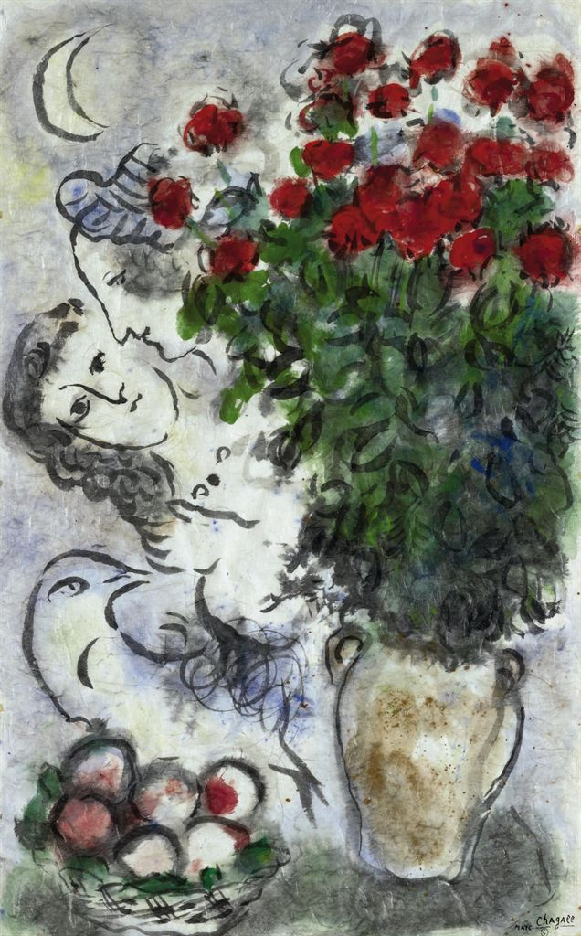 marc chagall 1887 1985 bouquet de roses rouges christie 39 s. Black Bedroom Furniture Sets. Home Design Ideas
