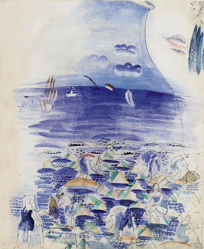 Raoul Dufy 1877 1953 P Cheurs Et Baigneuses Au Bord De