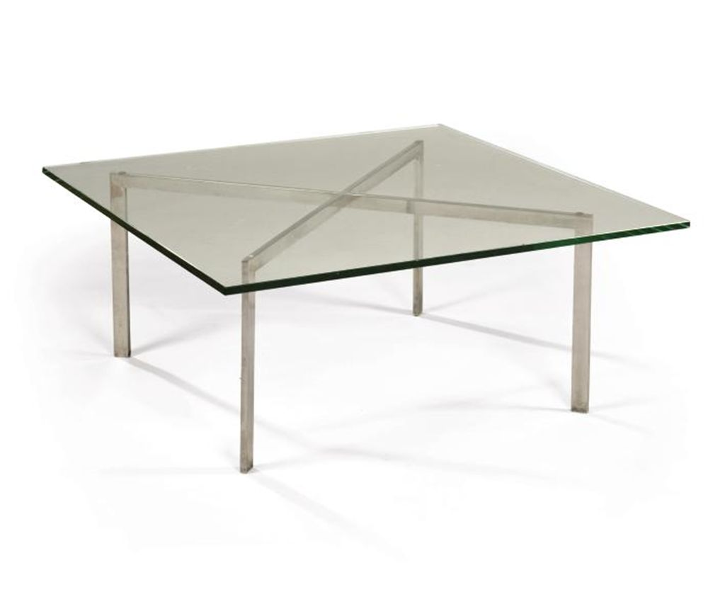 ludwig mies van der rohe 1886 1969 table basse. Black Bedroom Furniture Sets. Home Design Ideas