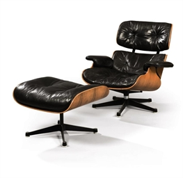 charles 1907 1978 et ray eames 1912 1988 pour herman miller fauteuil 39 670 39 et son repose. Black Bedroom Furniture Sets. Home Design Ideas