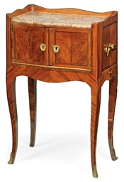 A louis xv kingwood and amaranth table de nuit mid 18th for Table de nuit new york