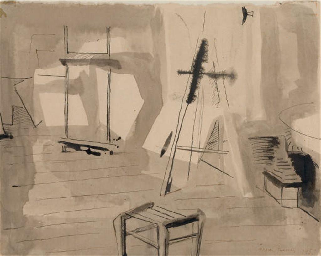 arpad szenes 1897 1985 l 39 atelier du boulevard st jacques christie 39 s. Black Bedroom Furniture Sets. Home Design Ideas