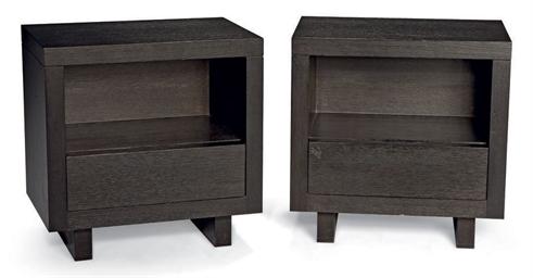 christian liaigre paire de tables de chevet christie 39 s. Black Bedroom Furniture Sets. Home Design Ideas