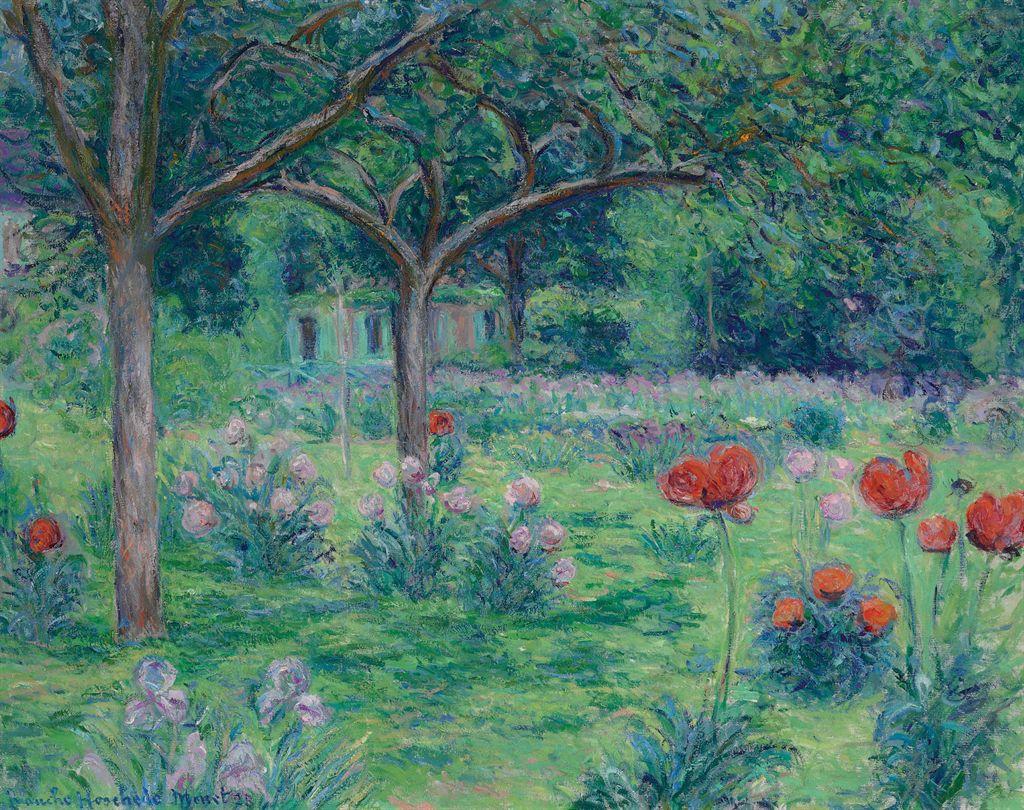Blanche hoschede monet 1865 1947 le jardin de monet giverny christie 39 s - Les jardins de monet ...