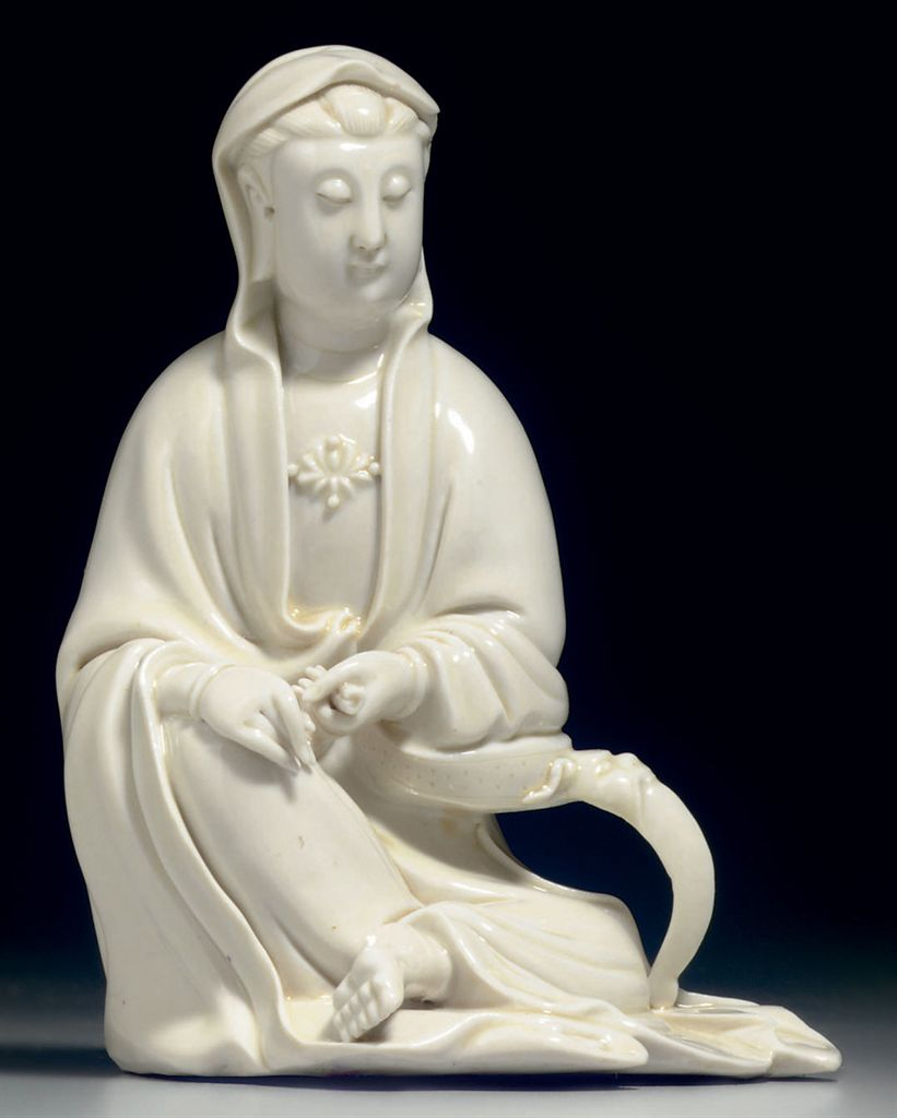 A BLANC-DE-CHINE FIGURE OF GUANYIN , 18TH/19TH CENTURY