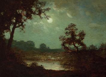 Ralph Albert Blakelock 1845 1919 Landscape At